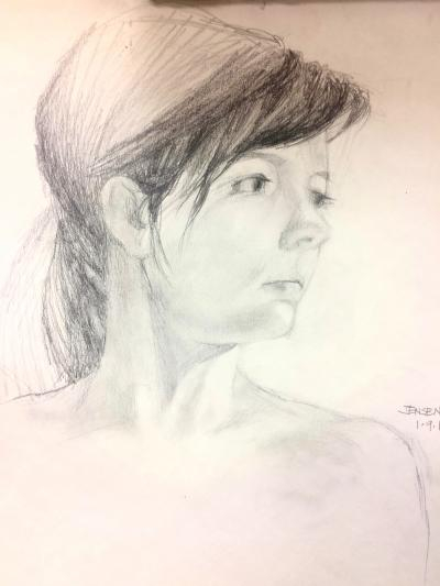 Portrait Drawing with Jude Tolar