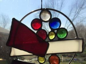 Garden Stained Glass Sculpture