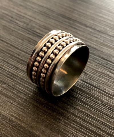 Silver Spinner Ring Making