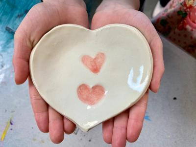 Ceramic Hearts for Mother's Day